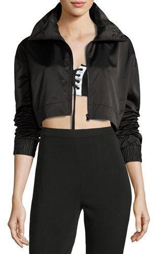 Fenty Puma by Rihanna Boxy Cropped Track Jacket, Black
