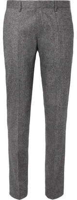 HUGO BOSS Jiro Slim-Fit Mélange Virgin Wool-Blend Tweed Trousers