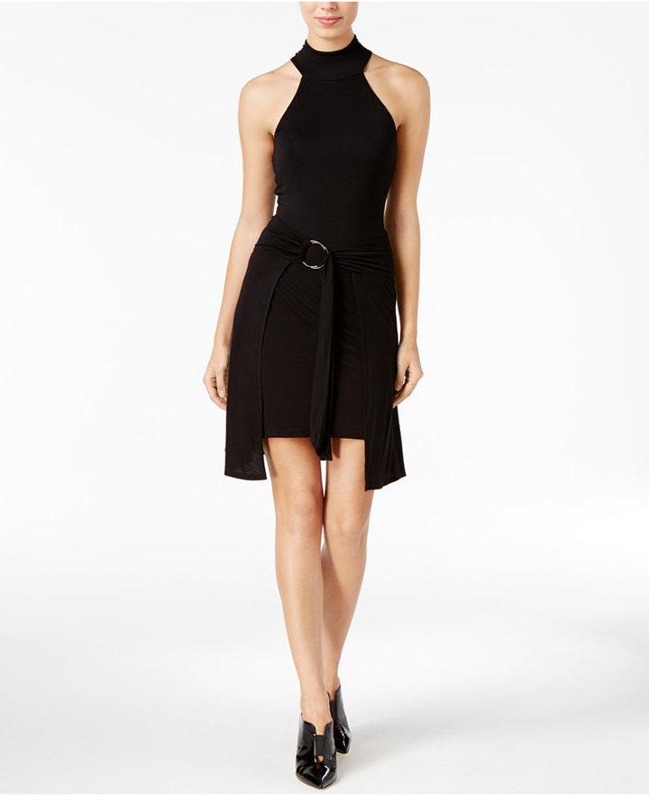 Guess Belted Mock-Neck Dress