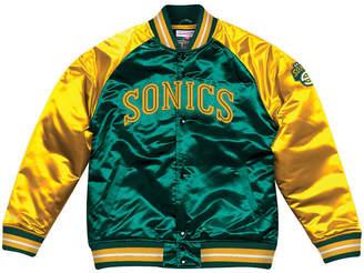 Mitchell & Ness Men Seattle SuperSonics Tough Season Satin Jacket