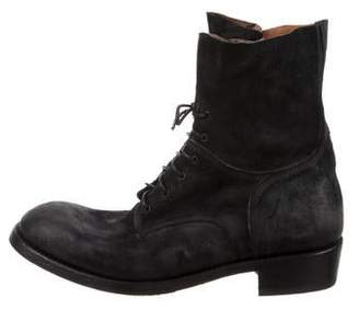 ARI Distressed Leather Combat Boots
