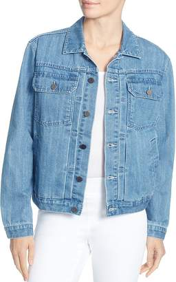 Catherine Malandrino Cole Embellished-Back Denim Jacket