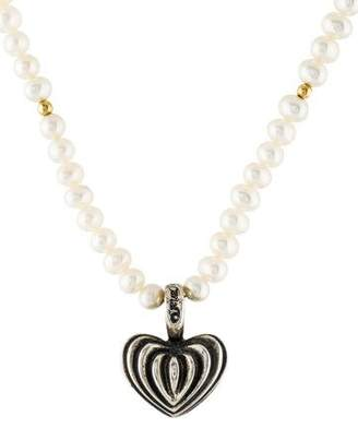 Lagos Pearl & Heart Pendant Necklace