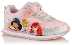 Disney George Princess Pink 1 Strap Trainers