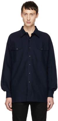 Kozaburo Navy Flannel Boxy Fit Shirt