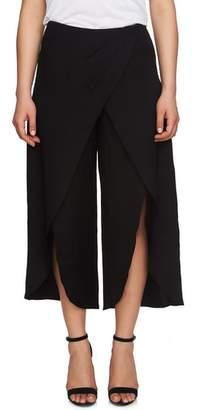 CeCe Foldover Front Wide Leg Crop Pants