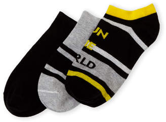 Hue 3-Pack Sporty Footsie Low-Cut Socks
