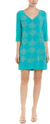 Trina Turk Glitterati 2 Silk Shift Dress