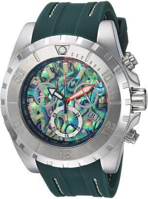 Invicta Men's Quartz Stainless Steel and Polyurethane Casual Watch, Color:Green (Model: 25096)