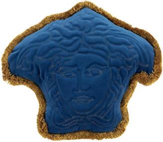 Versace Medusa Cushion - 45x45cm - Blue