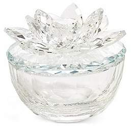 Marks and Spencer Cut Glass Flower Trinket Box
