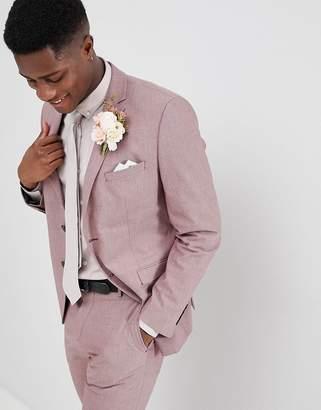 Selected Slim Suit Jacket In Rose