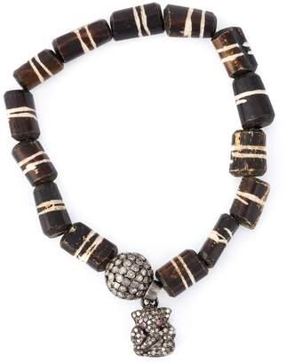 Loree Rodkin bead diamaond charm bracelet