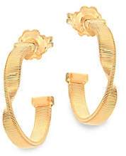 Marco Bicego Women's Marrakech 18K Yellow Gold Twisted Hoop Earrings/0.75""