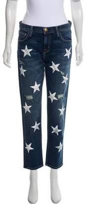 Current/Elliott Printed Mid-Rise Jeans