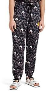 Double Rainbouu Men's EZ Floral Cotton Drawstring Jogger Pants - Black