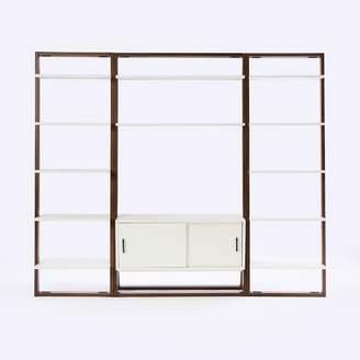 west elm Ladder Shelf Media Console + Shelves Set - Wide