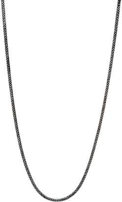 "Italian Silver 36"" Diamond Cut Snake Chain Necklace Sterling, 18.9g"