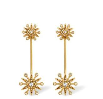 Rachel Zoe Clea Crystal Pavé Starburst Drop Earrings