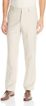 Cubavera Cuba Vera Men's Easy Care Linen Blend Flat Front Pant