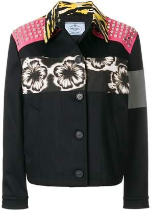 Prada patch applique boxy jacket