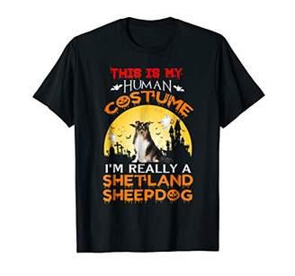 I'm Really A Shetland Sheepdog Dog T-Shirt Halloween 2018