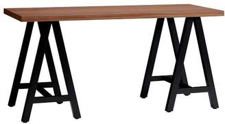 Pottery Barn Teen Customize-It Simple A Frame Desk, Water-Based Walnut Desktop / Matte Black Base