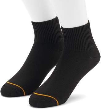 Gold Toe Goldtoe Men's GOLDTOE 2-pack Non-Binding Rayon from Bamboo Quarter Socks
