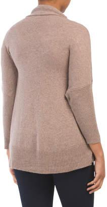 Subtle Luxury Cashmere Blend Crop Shawl Cardigan