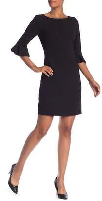 Nine West 3/4 Ruffle Sleeve Sheath Dress