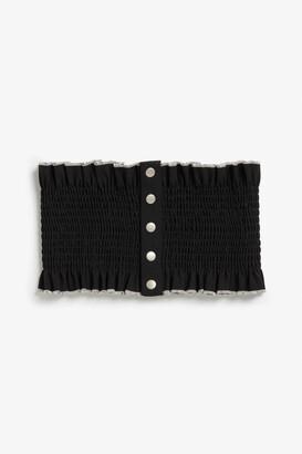 Monki Wide ruffled belt