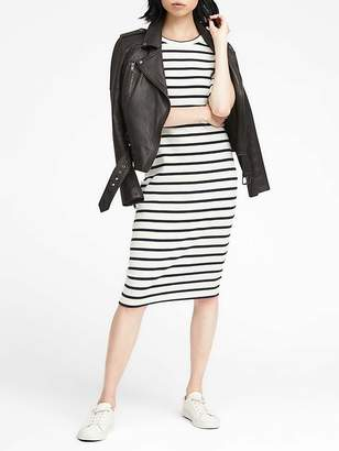 Banana Republic Stripe Rib-Knit T-Shirt Dress