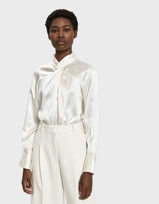 3.1 Phillip Lim Long Sleeve Twisted Silk Blouse