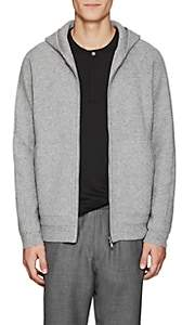 Theory Men's Cashmere Zip-Front Hoodie-Gray
