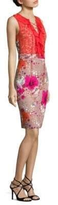 Roberto Cavalli Floral-Print Lace Dress
