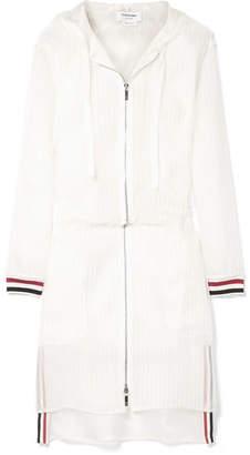 Thom Browne Hooded Mesh Jacket - White