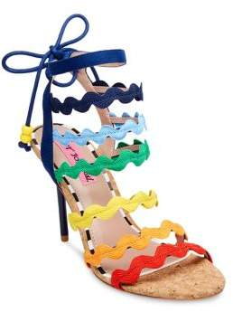 Betsey Johnson Cali Multicolored Ankle-Strap Sandals