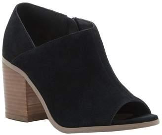 Sole Society Peep Toe Leather Booties - Arroyo