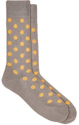 Paul Smith Men's Dotted Cotton-Blend Mid-Calf Socks $30 thestylecure.com
