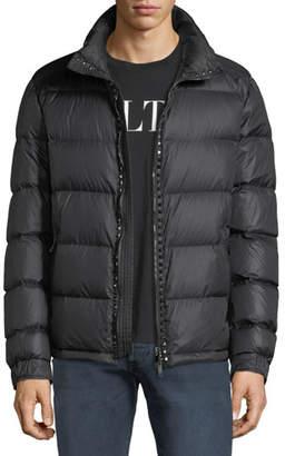 Valentino Men's Rockstud Hooded Puffer Jacket