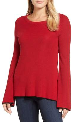 Vince Camuto Tipped Bell Sleeve Sweater