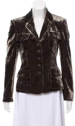 Michael Kors Velvet Button-Up Jacket