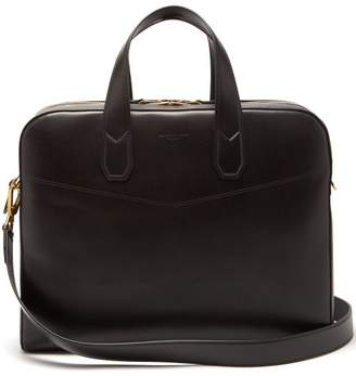 Dunhill Duke Leather Briefcase - Mens - Black