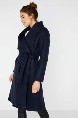 Next Womens Girls On Film Longline Plain Belted Coat