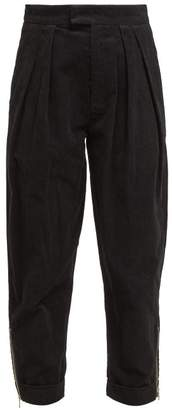 Preen Line Deena Zip Cuff Cotton Corduroy Trousers - Womens - Black Multi