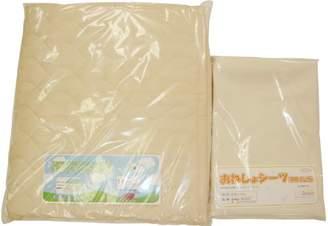 防水シーツ (通気性のある) &日本製厚手の汗取りパット2点セット