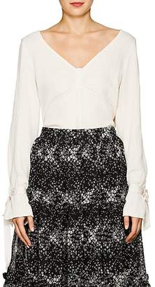 Raquel Allegra Women's Textured Gauze V-Neck Blouse