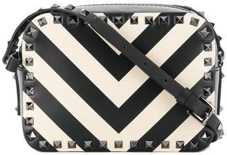 Valentino Rockstud striped camera bag