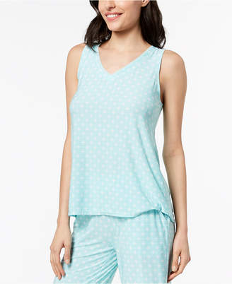 Alfani Geometric-Print Pajama Tank, Created for Macy's