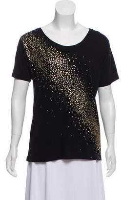 Saint Laurent Embellished Short Sleeve T-Shirt